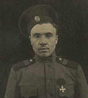 Тот самый фельдфебель Кирпичников, который начал Февральскую революцию.