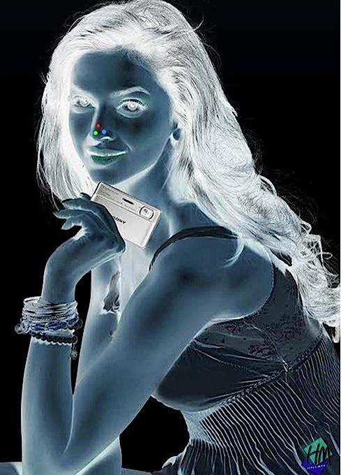 Оптическая иллюзия - девушка.