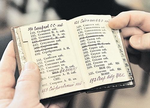 Телефонный справочник первой кремлевской АТС - «вертушки». 1928 г. Судя по этой книжке, у Иосифа Сталина тогда было два телефона - рабочий и домашний.