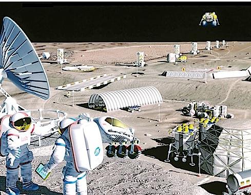 Колония на Марсе. Так ее видят художники.