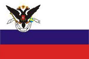 Таким был флаг Русской Америки.