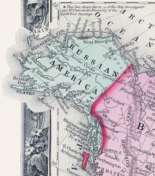 «Русская Америка» составляла более 13% от территории империи.