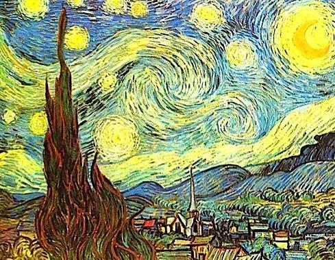 """""""Звездная ночь"""". Ван Гог."""