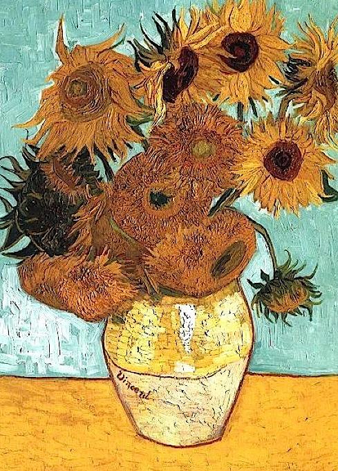 «Странные» подсолнухи» Ван Гога.