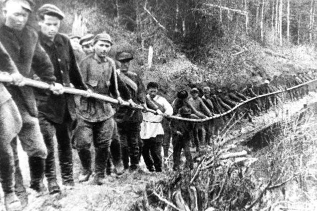 Заключенные ГУЛАГа в Коми. 1929 год. Год великого сталинского перелома.
