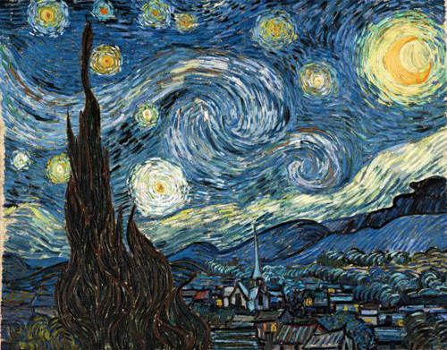 ...А эти завихрения изобразил Ван Гог.