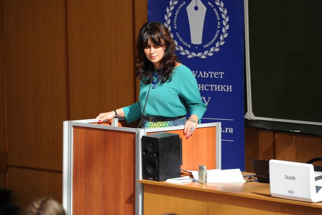 По признанию телеведущей, выступление на факультете МГУ далось ей так же же тяжело, как студентам – диктант