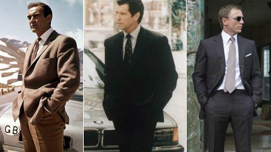 Шон Коннери (на фото слева) в костюме от Энтони Синклера (