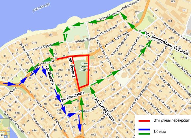 Какие улицы перекроют на 9 мая