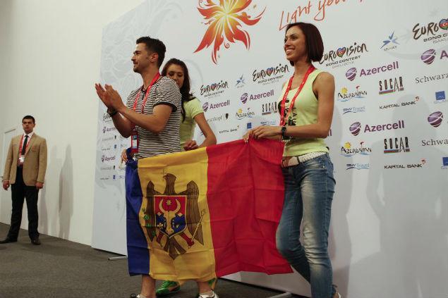 Первая пресс-конференция молдавского участника.
