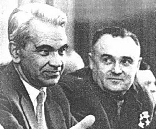 Келдыш (слева) и Королев в свое время по очереди успокаивали Сталина по поводу НЛО