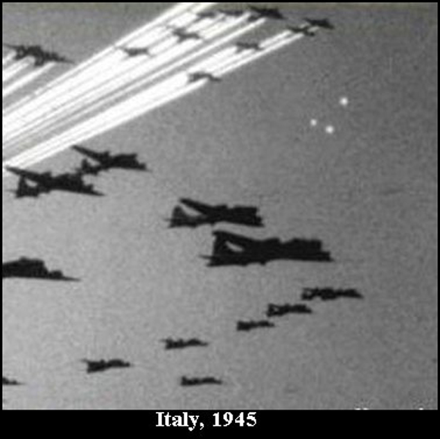 Во время войны НЛО в небе наблюдали не только британские или американские летчики...
