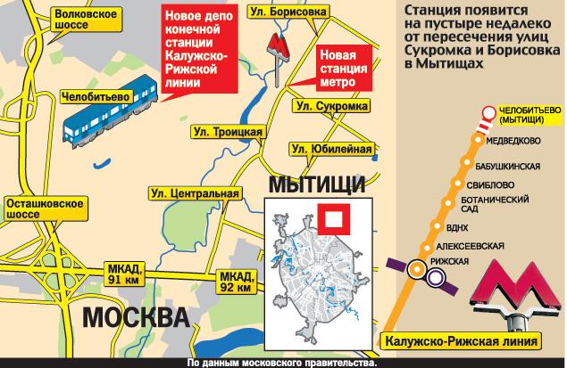 Борисовка в Мытищах. А на