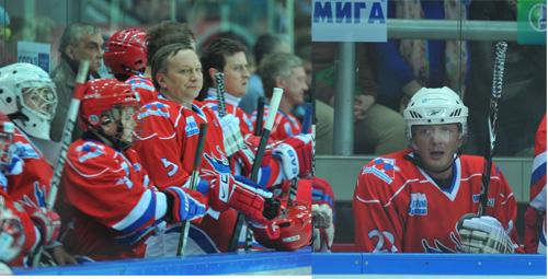 Слева направо: Игорь Угольников, Стас Ярушин и Марат Башаров - настоящие мужчины, играющие в хоккей.
