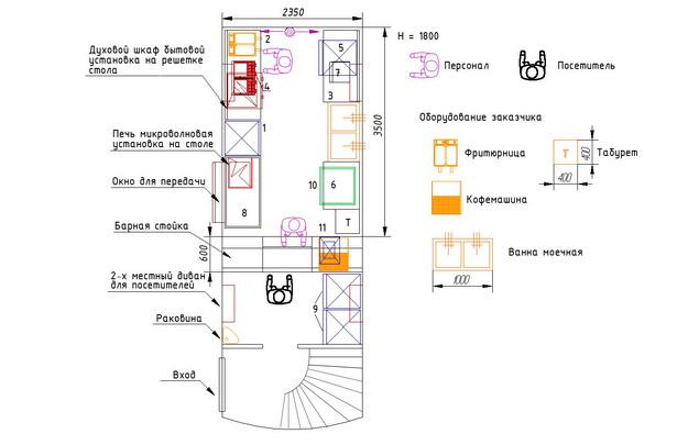 Схема салона английского