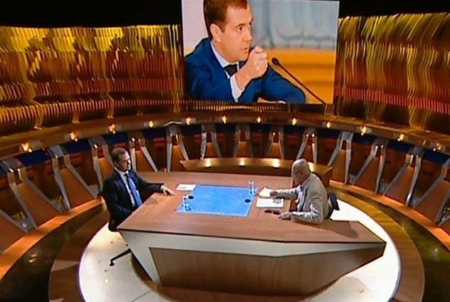 Дмитрий Медведев ответил на вопросы ведущего Первого канала Владимира Познера