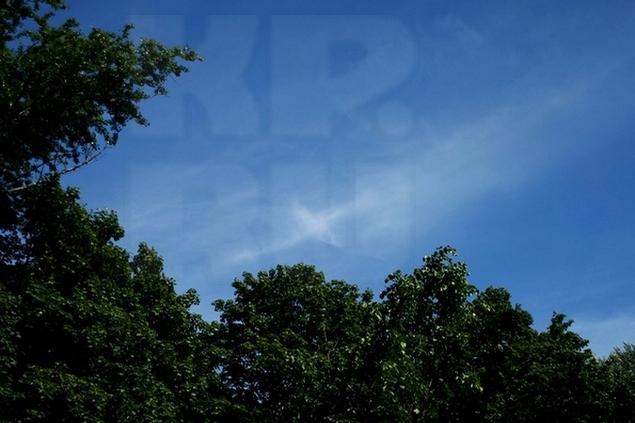Облака сложились так всего на мгновение, но люди увидели в этом добрый знак