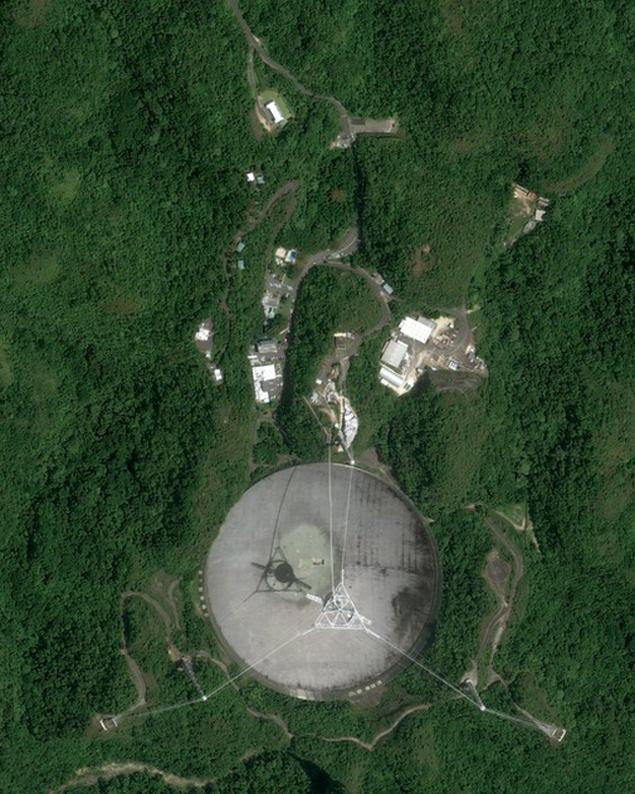 Тарелка телескопа обсерватории