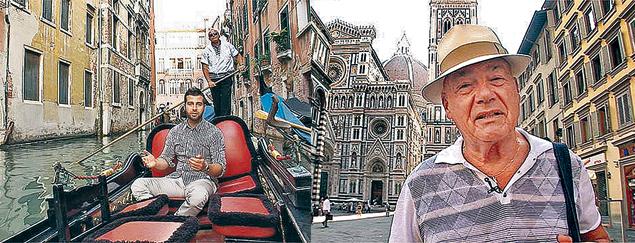 Познеру (справа) пришлись по душе многие итальянские города, особенно Венеция. Ивану Урганту (слева) там тоже понравилось.