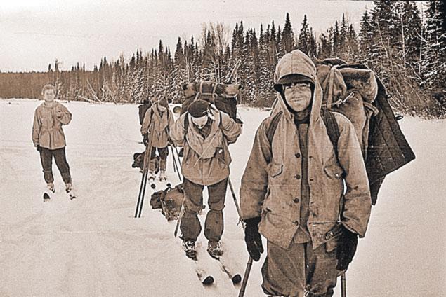 Группа Дятлова вблизи горы