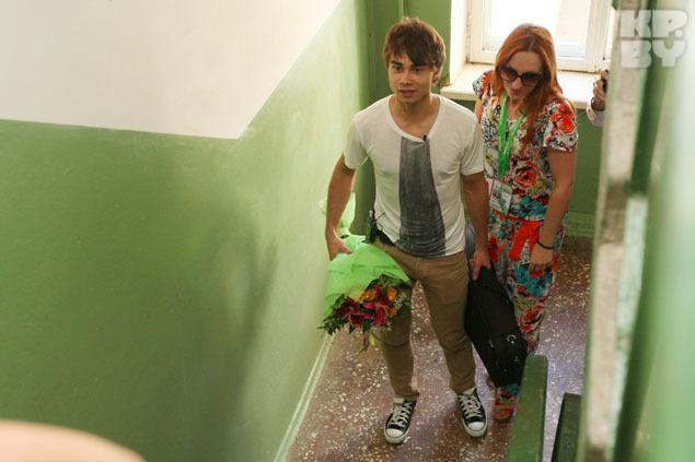 В Витебске Саша Рыбак приехал в гости к своей старшей сестре Юлии.