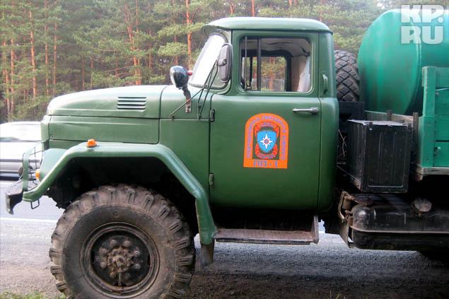 Бороться с огнем приехала «Добровольная пожарная команда»