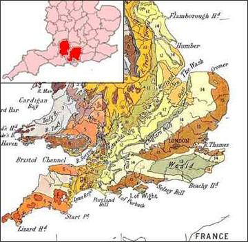 """Числом """"14"""" обозначены области Великобритании, богатые залежами мела. Как раз тут в основном и возникают хлебные круги"""