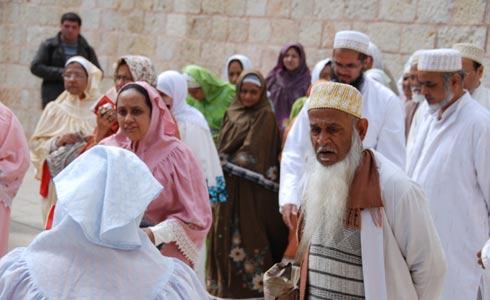 В Иерусалиме много паломников-мусульман.