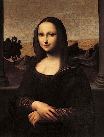 """А эта """"Мона Лиза"""" - в молодости."""