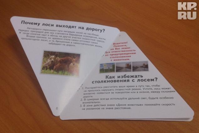 Такие брошюры в целях профилактики раздают водителям.