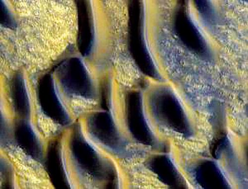 Марсианские дюны, ставшие стеклянными.