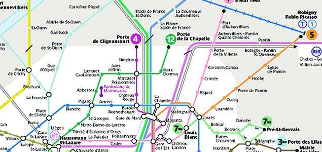 Схема парижского метро имеет