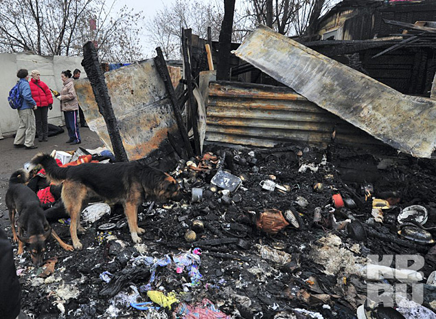 Животные сгорели буквально заживо