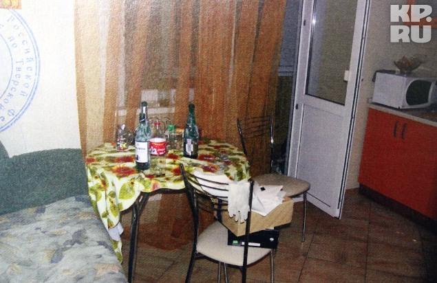 Кухня, где школьники устроили пьянку в новогоднюю ночь