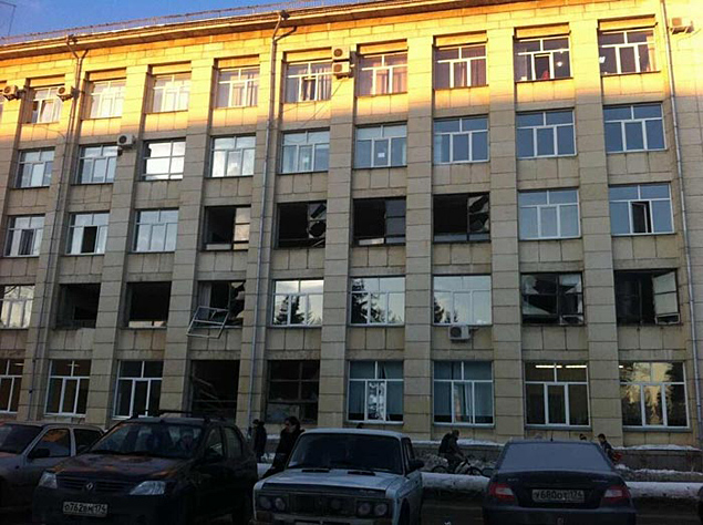 Schdanii smashed glass in the South Ural University