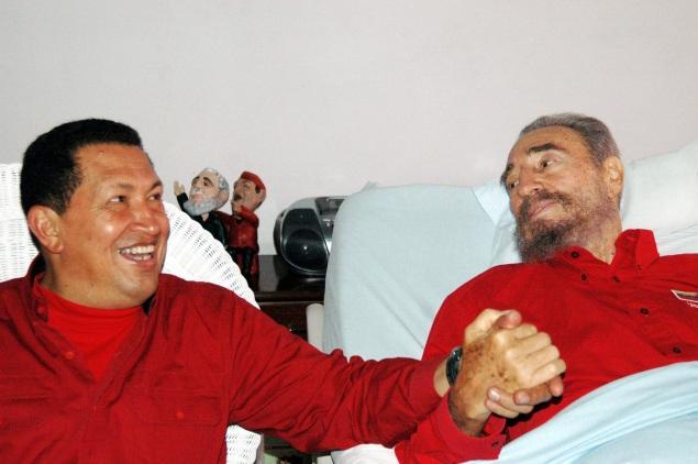 Вместе с Фиделем Кастро