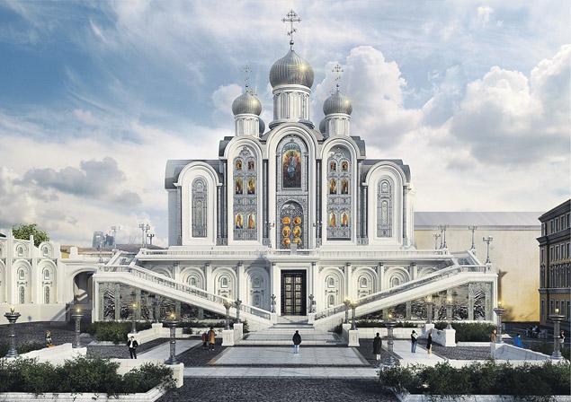 Храм Новомучеников иИсповедников Российских «накрови», что на Лубянке, планируют возвести вСретенском монастыре иосвятить в феврале 2017-го- к столетию революционных событий.