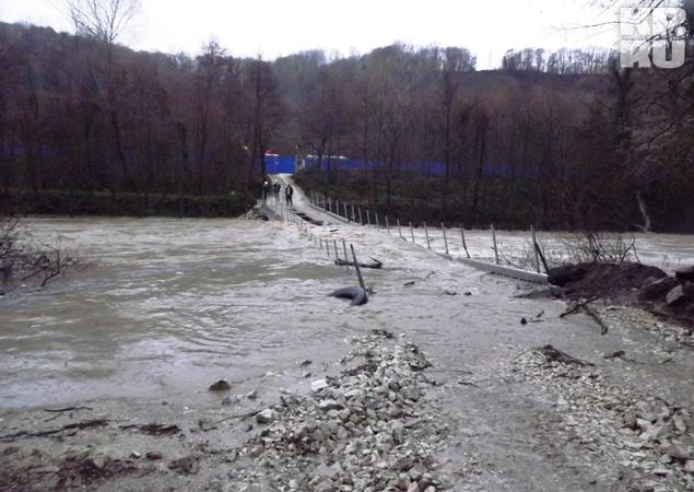 Река Кудепста вышла из берегов