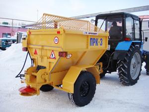 Пескоразбрасыватель ПРК-3 с трактором МТЗ-82