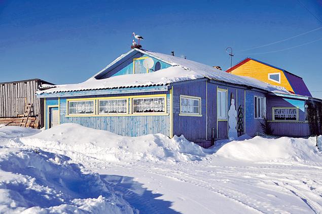 На крыше - аист, под крышей - семейный детдом Соловьевых.