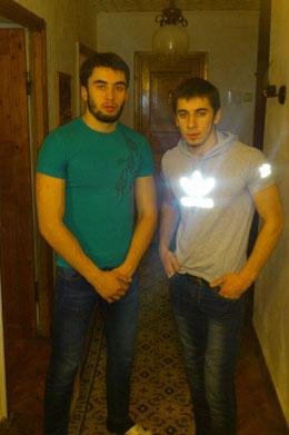 Магамед Мациев (слева) и Ибрагим Патиев пострадали в драке.