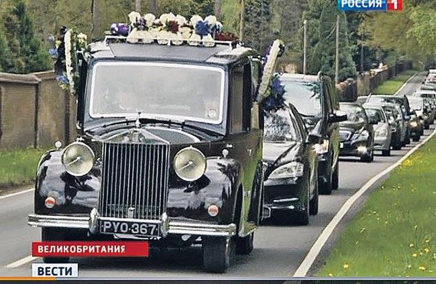 На похоронах БАБа были только самые близкие.