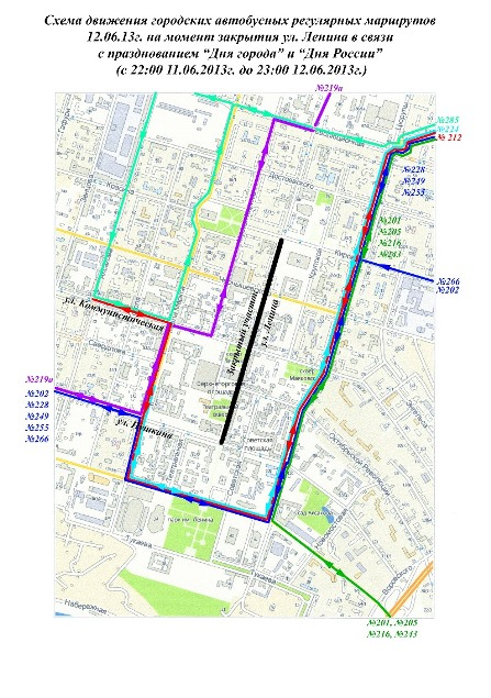 Схема маршрутов без льгот