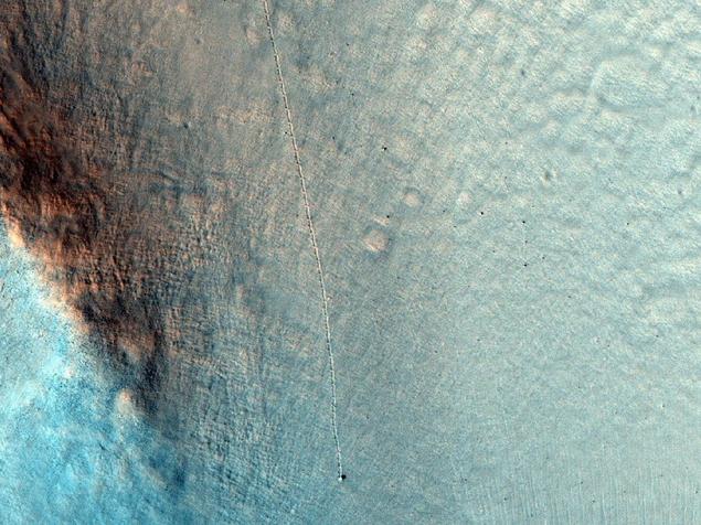 Снимок зонда MRO со следами