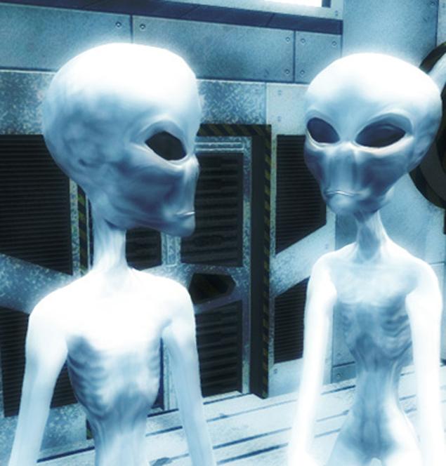 Один из видов инопланетян - так называемые греи: маленькие, ростом с 6-летнего ребенка, серенькие