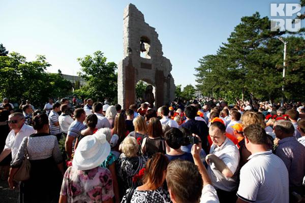 В Крымске открыли памятник
