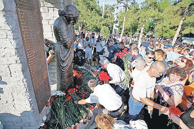 тысячи жителей Крымска и