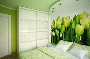 Спальня в цветах.