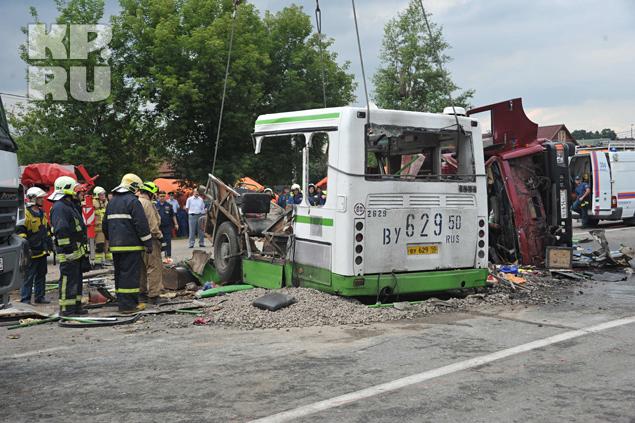 В аварии под Подольском 13