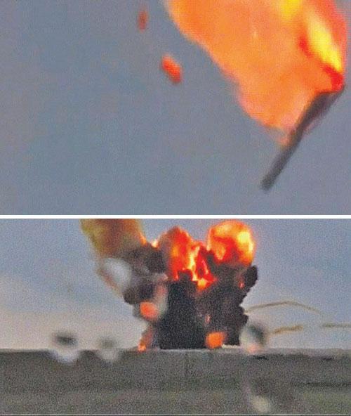 На 12-й секунде полета ракеты датчики выдали неверную команду. И вот результат...